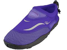 The Wave  Ladies Aqua Shoe6 BM USSolid Purple * You can get more details by clicking on the image.