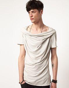 Men's Delusion Drape neck T-shirt
