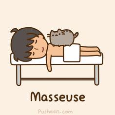 Pusheen the cat- masseuse