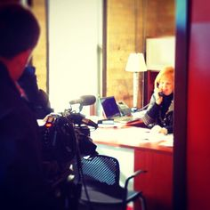 Jill, our President/CEO preps for an interview.