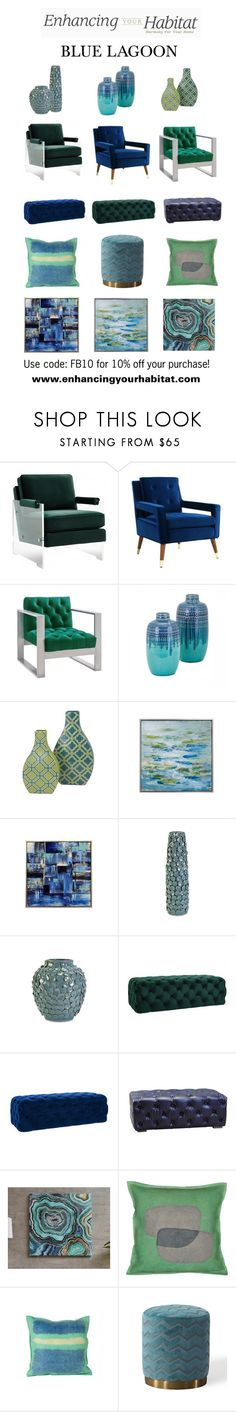 """Enhancing Your Habitat - Blue Lagoon"" by sierraday ❤ liked on Polyvore featuring interior, interiors, interior design, home, home decor and interior decorating"