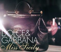 DOLCE & GABBANA. The iconic Miss Sicily handbag draws inspiration from the flawless and timeless elegance of Italian women, interpreting their values and ideals in a modern way.