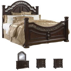 Tuscany 5-piece Mocha Finish King-size Bedroom Set