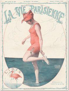 La Vie Parisienne 1918 Art by Leonnec