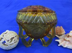 Sowerby glass art deco rose bowl with ornate tripod legs. complete with frog frog. My Glass, Glass Art, Frog Frog, Frog Design, Life Paint, Military Pictures, Rose Bowl, Tripod, Pottery Art