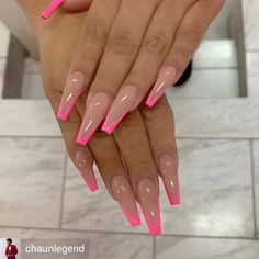 top awesome coffin nails design 2019 you must try 25 ~ thereds.me top awesome coffin nails design 2019 you must try 25 ~ thereds.me,Ombre acrylic nails top awesome coffin nails design. Summer Acrylic Nails, Best Acrylic Nails, Summer Nails, Holiday Acrylic Nails, Ballerina Acrylic Nails, Ballerina Nails Shape, French Tip Acrylic Nails, Acrylic Nail Art, Neon Nails