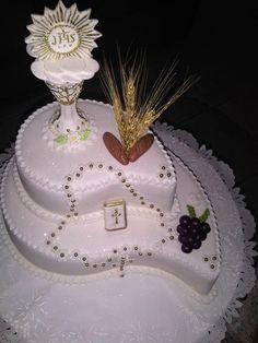 EL CÁLIZ Cheese Pasta Bake, Religious Cakes, First Communion Cakes, Confirmation Cakes, 50th Birthday, Food Inspiration, Fondant, Birthdays, Anniversary