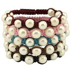 7.8'' Pearl Bracelet and Black Wax Cord Braided Bangle Jewelry Adjustable for Teen Girl Annie Jewelry http://www.amazon.com/dp/B01DOVWVGM/ref=cm_sw_r_pi_dp_A62bxb1ZQJYVQ