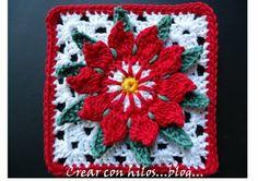 Poinsettia Granny - free pattern