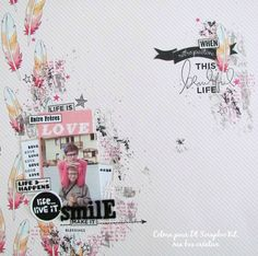"""Smile"" par Celma - Scrapboo'Kit - Ma box créative"