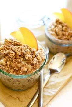 Apple Cobbler Overnight Oats. Take 5 minutes to prep breakfast for the family before bed and have the most delicious, whole-grain breakfast that tastes exactly like Apple Cobbler!