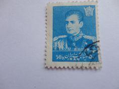 50D blue IRAN Postage Stamp