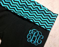 A personal favorite from my Etsy shop https://www.etsy.com/listing/221635000/monogrammed-capris-and-yoga-pants-in