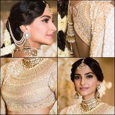 Love the simple & pretty Makeup & Hair by none other than Indian Wedding Photos, Indian Wedding Outfits, Indian Outfits, Bollywood Dress, Bollywood Wedding, Bollywood Actors, Bridal Sari, Indian Bridal Wear, Wedding Beauty