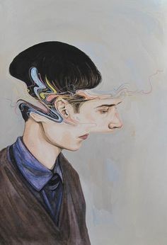 Deconstructed Watercolor Portraits by Henrietta Harris watercolor portraits painting illustration