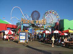 The amusement park entrance on the pier