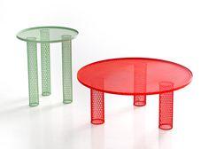 Net tables by Benjamin Hubert for Moroso
