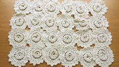 Flower Lace Appliques Vintage Crochet  ou Flor do laço apliques Crochet Vintage.