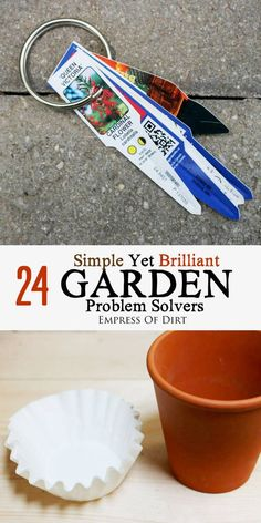 There are all sorts of clever ideas waiting in your kitchen to be used in the garden! Check out these 24 hacks that every gardener should know to solve problems and save money. #sponsored
