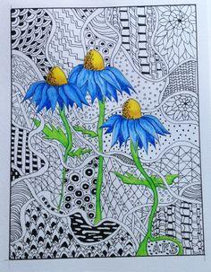 Pen & ink & Derwent inktense pencils.  By Annette Sharp