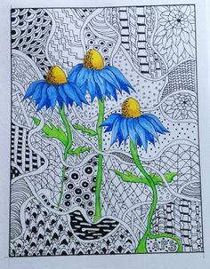 Pen & ink & Derwent inktense pencils.  By Annette Sharp
