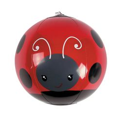 Inflatable Mini Ladybug Beach Balls - This would be cute as a part of the party favors.