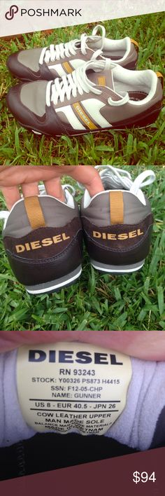 Sunday Sale Men's Diesel Gunner Lace Up Sneaker Get low-slung Euro style with these sleek sneaks from Diesel. Lace up front. Fabric lining. Imported. Like new condition. These are a men's size 8. I am an 8.5 in womens and they are slightly big for me. These would fit a 9 to 9.5 in womens. I wish they fit me! I love Diesel shoes!! Offers welcome 😊 Diesel Shoes Sneakers
