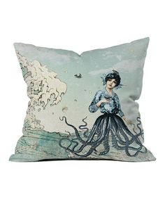 "Sea Fairy Throw Pillow by DENY Designs #zulilyfinds, 16"", $27, 18"", $30."