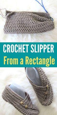 Easy Crochet Slippers, Knit Slippers Free Pattern, Crochet Slipper Pattern, Crochet Patterns, Stitch Patterns, Crochet Gifts, Crochet Yarn, Crochet Leg Warmers, Shoe Pattern