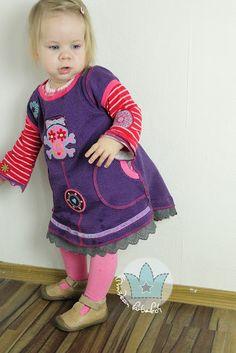 prinzessin farbenfroh: Winter Tunika für Kinder nähen