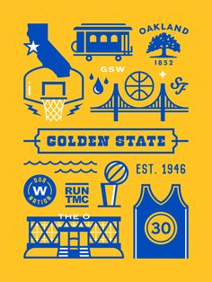 Golden State Warriors by Elias Stein Golden State Warriors Wallpaper, Golden State Warriors Basketball, Warrior Logo, Nba Wallpapers, Basketball Art, Curry Basketball, Oklahoma City Thunder, Nba Champions, Stephen Curry