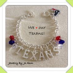 Houston Texans inspired bracelet on Etsy, $21.00