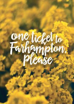 """""""One ticket to Farhampton, please."""" - Tracy McConnell, How I Met Your Mother (2014)"""