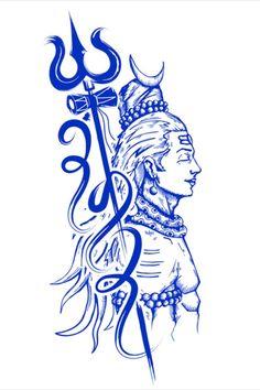 Shiva is also known as Adiyogi Shiva, regarded as the patron god of yoga, meditation and arts tattoo mann vorlagen Lord Shiva Hd Images, Hanuman Images, Hanuman Pics, Lord Shiva Hd Wallpaper, Hanuman Wallpaper, Mahakal Shiva, Shiva Art, Lord Shiva Sketch, Rudra Shiva