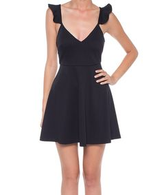 Black Cutout Fit & Flare Dress by Coveted Clothing #zulily #zulilyfinds