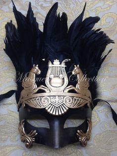 Warrior Roman Greek Hercules Gold Venetian Masquerade Men's Mask