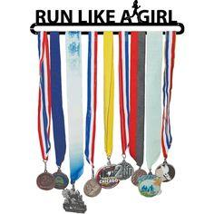 RUN LIKE A GIRL Race Medal Hanger and Wall Display