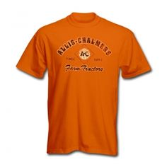 Allis Chalmers Mens Orange T-Shirt - Weathered Logo