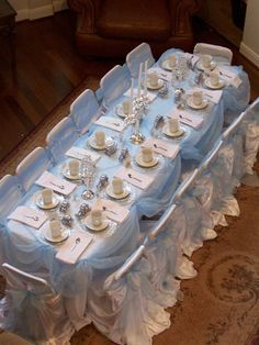 cinderella table - lovely!