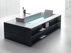 Vasca da bagno idromassaggio in Corian® SENSUAL 220 - HAFRO