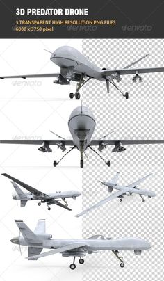 My original concept was to design around the predator and reaper drones. These drones have been in the air for many hours and are proven, I want to adapt the plane look as I thought that was the best design for this project. I was able to use my Pinterest page to develop my plan and come to a better understanding of UAV designs.
