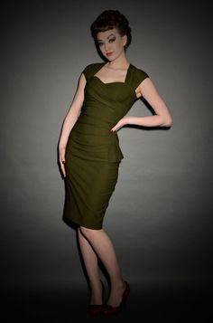 Uma 50's style wiggle dress by Stop Staring! at Deadly is the Female