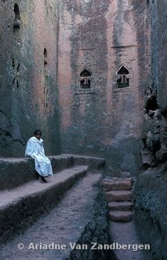 Photos and pictures of: Boy sitting in the trench surrounding the rock-hewn church Bet Maryam, Lalibela, Ethiopia - The Africa Image Library Ethiopian Beauty, Horn Of Africa, Vintage Photographs, Vintage Photos, Travel Humor, African Countries, African Culture, East Africa, Underwater Photography