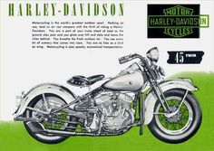 10538 - HARLEY-DAVIDSON 1948 - Model 45 TWIN - Motorcycling is the world's - 41x29-