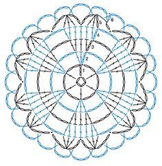 코바늘 컵받침 모티브 // 도안 포함 : 네이버 블로그