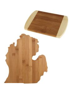 Loving this Michigan State Bamboo Cutting & Serving Board on #zulily! #zulilyfinds