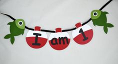 Fishing I am 1 High Chair Banner Gone by DecorateYourBigDay