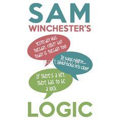 """SAM WINCHESTER'S LOGIC"" T-Shirts & Hoodies by saltnburn | Redbubble"