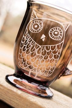 Retro Vintage Inspired OWL Coffee Mug Cup Great Gift by ruthie5573