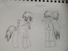 My Brony ponies! Jack and Katie! Let me know what you think! Katie needs a cutie mark any ideas?-PF
